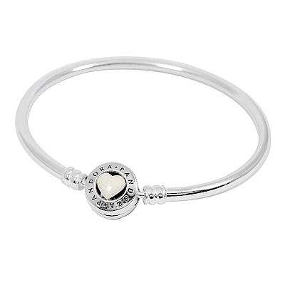 Pandora 潘朵拉 愛之時刻 925純銀硬環手鍊手環