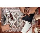 以色列穆妮薩-桌墊-部族風-紅花窗紋