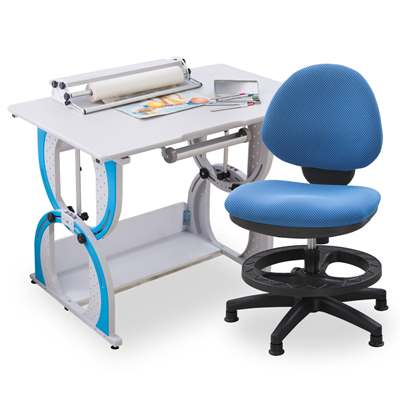 時尚屋 派翠克兒童伸縮成長書桌椅組可選色/免運費/台灣製