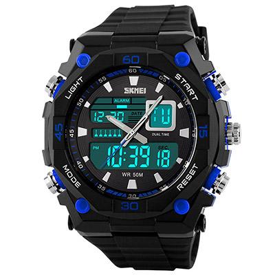 SKMEI 時刻美1092雙機芯多功能防震防水電子錶 (2色任選)