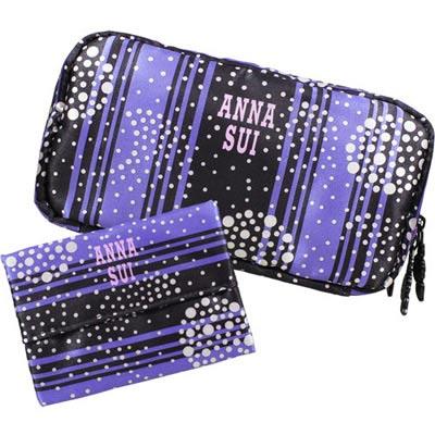 ANNA-SUI-安娜蘇-炫紫華麗化妝包-面紙包組