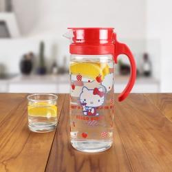 HELLO KITTY 蘋果女孩耐熱玻璃水壺1260ml
