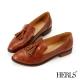HERLS 內真皮學院風流蘇樂福鞋-棕色