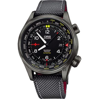 Oris豪利時 Altimeter Rega 瑞士空中救援限量錶-47mm