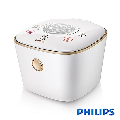 [無卡分期-12期] 飛利浦PHILIPS 雙向智旋IH電子鍋-石英白HD4566