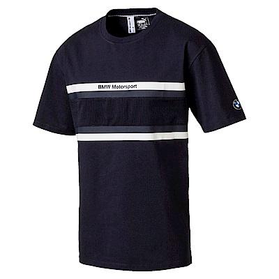 PUMA-男性BMW系列長版短袖T恤-車隊藍-歐規