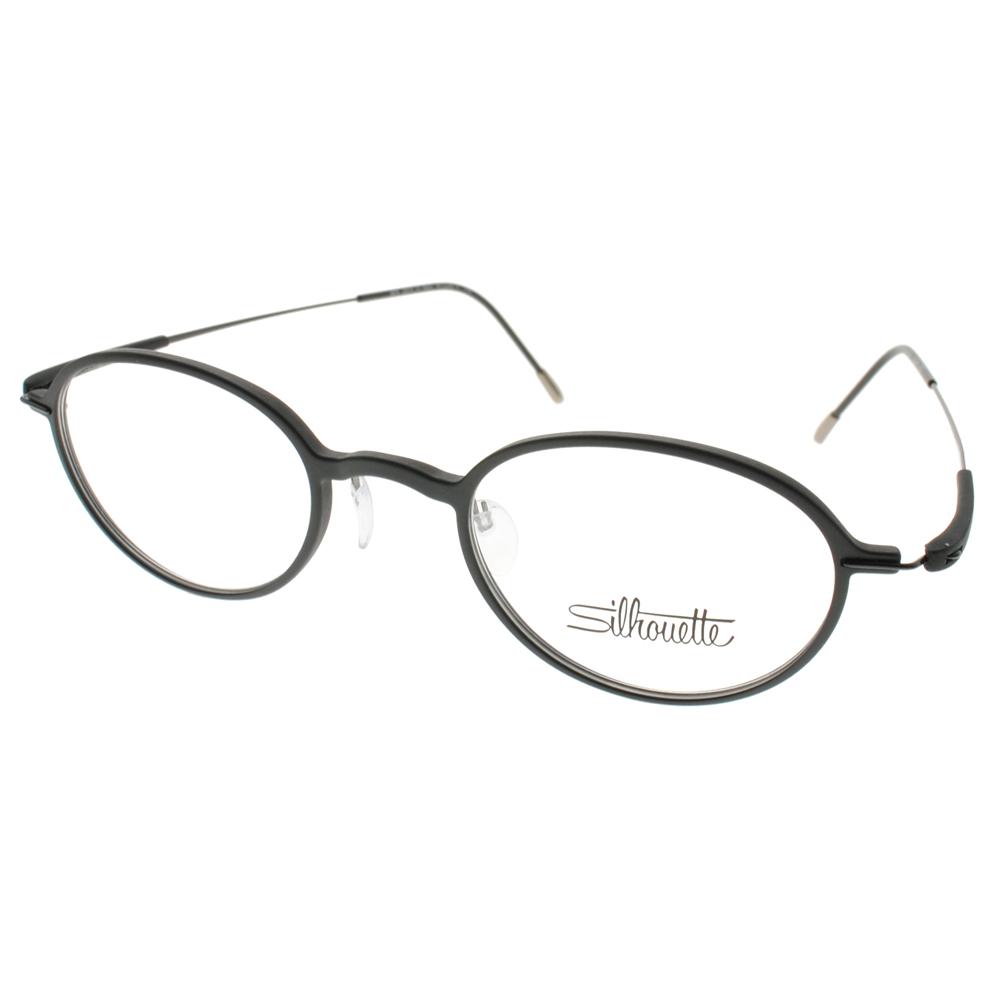 Silhouette詩樂眼鏡 簡約小圓框/黑#ST2878 C6057