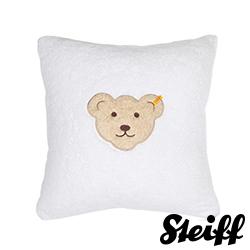 STEIFF德國金耳釦泰迪熊 - 嬰幼兒 枕頭 靠枕 白色 40x40cm