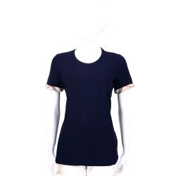 BURBERRY 藍色經典格紋設計短袖上衣