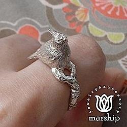 Marship 日本銀飾品牌 鸚鵡戒指 baby幼鳥款 925純銀 亮銀款