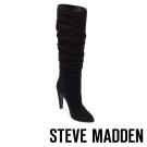 STEVE MADDEN-CARRIE-BLACK 真皮尖頭高跟長筒套靴-黑色