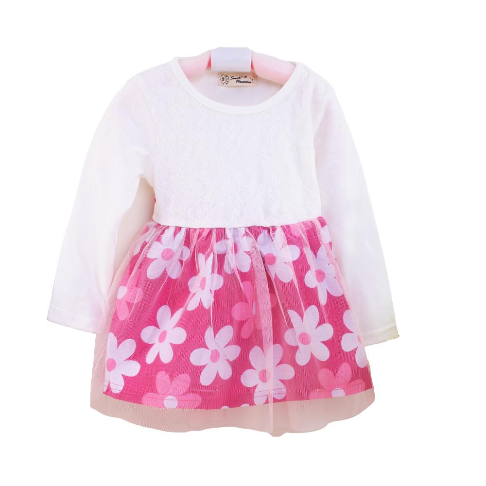 魔法Baby 女童連身長袖連身裙 k36497