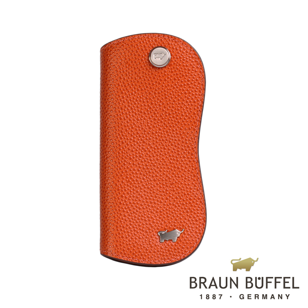 BRAUN BUFFEL - HOMME-B紳士系列單鎖鑰匙包 - 柑橘色