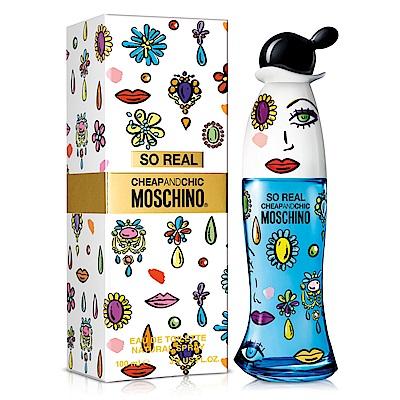 Moschino SO REAL 奧莉薇女性淡香水100ml 送品牌小香