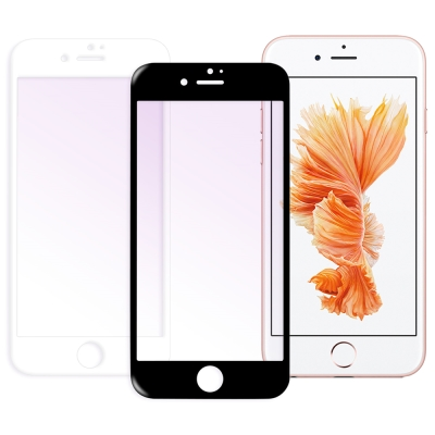 LUCCIDA Apple iPhone6 / 6s 抗紫光3D滿版玻璃貼