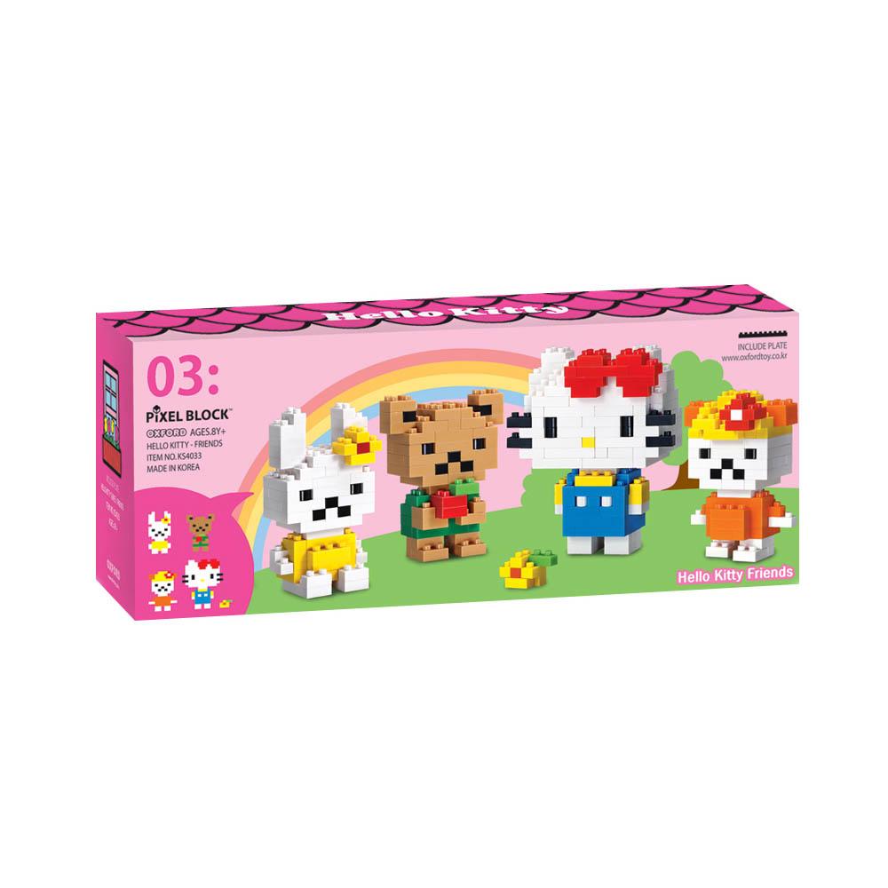 Hello Kitty 凱蒂貓Kitty可愛朋友積木組 KS4033