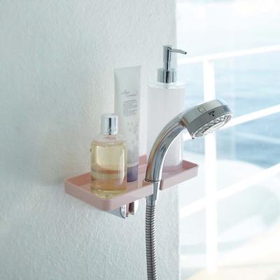 【YAMAZAKI】MIST蓮蓬頭收納盤架-粉★衛浴收納/居家收納/置物架/盥洗用具收納