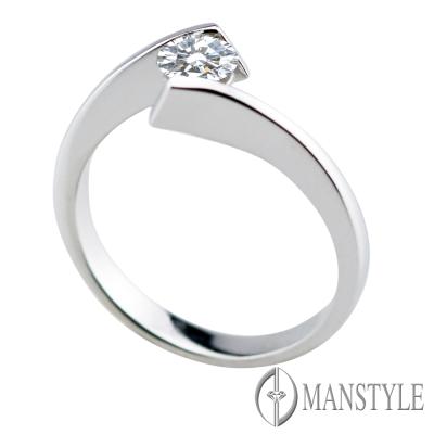 MANSTYLE 一見鍾情 0.30ct 八心八箭 鑽石戒指