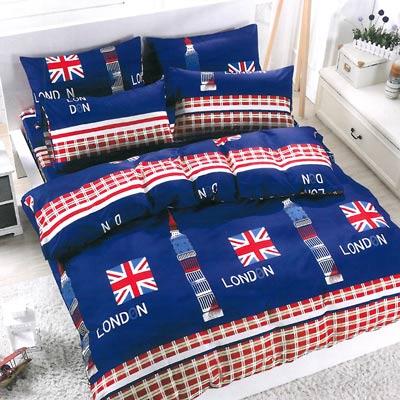 美夢元素 天鵝絨涼被床包組-雙人加大四件式英倫鍾情