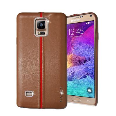 HOCAR Samsung Galaxy Note4 爵士皮革保護手機殼(淺棕)