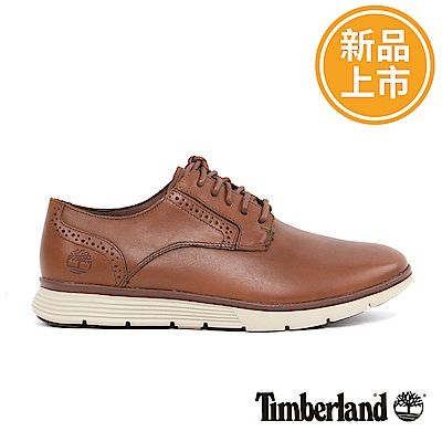 Timberland 男款咖啡色雕花牛津鞋
