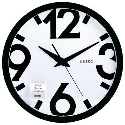 SEIKO 精工 藝術設計風 滑動式秒針 靜音 時鐘 掛鐘(QXA476A)-31cm