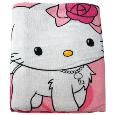 Sanrio三麗鷗授權-恰咪愛心與蝴蝶結小浴巾