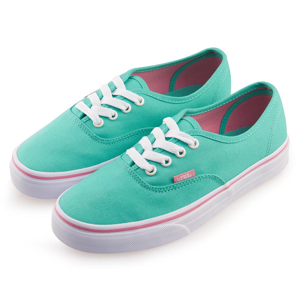 (女)VANS Authentic 經典素色4孔休閒鞋*綠色