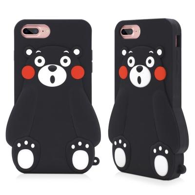 GARMMA 熊本熊iPhone 8/7/6S/6 立體矽膠果凍套-小呆瓜