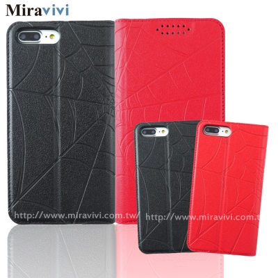 MARVEL漫威iPhone7 Plus(5.5吋)蜘蛛人經典版壓印皮套