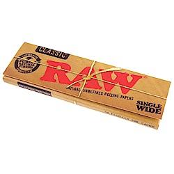 RAW 西班牙進口-CLASSIC SINGLE WIDE-未漂白天然捲煙紙*10