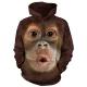 摩達客 美國進口The Mountain 可愛猩猩臉 套頭套頭長袖連帽T恤 product thumbnail 1