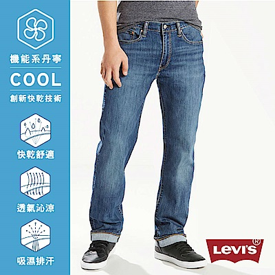 Levis 男款 514 舒適直筒牛仔褲 Cool Jeans 中藍刷色