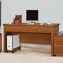 AS-班森柚木實木5尺書桌-152x57x82cm