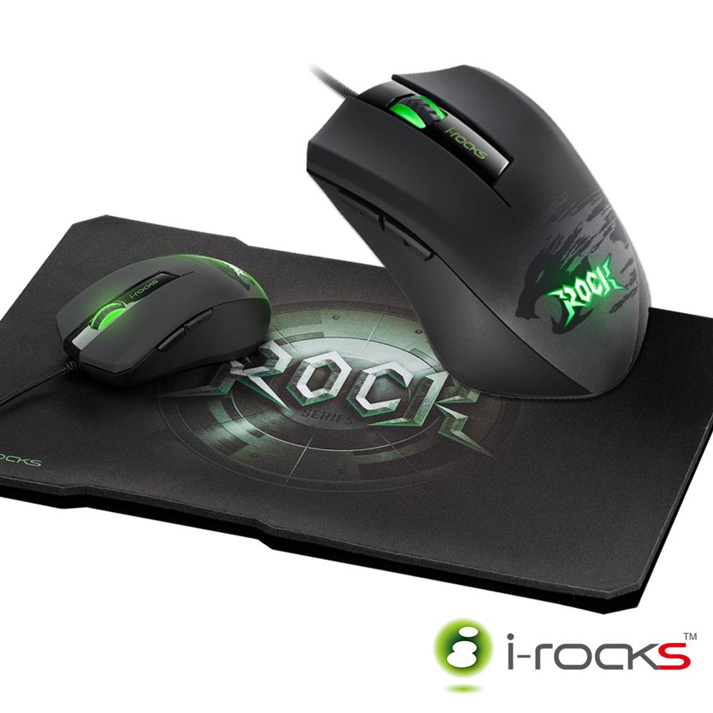 【停售】i-rocks ROCK系列 M09電競滑鼠+C10遊戲鼠墊