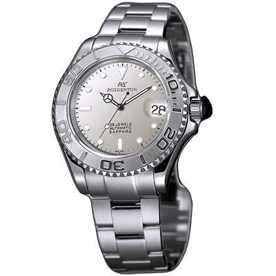 ROSDENTON 勞斯丹頓爆破司令時尚機械錶-銀/40mm