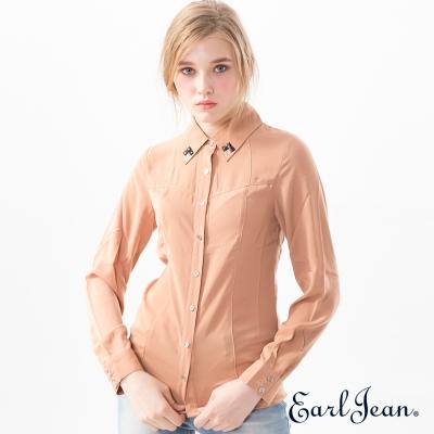 Earl Jean 馬甲式剪接襯衫-女