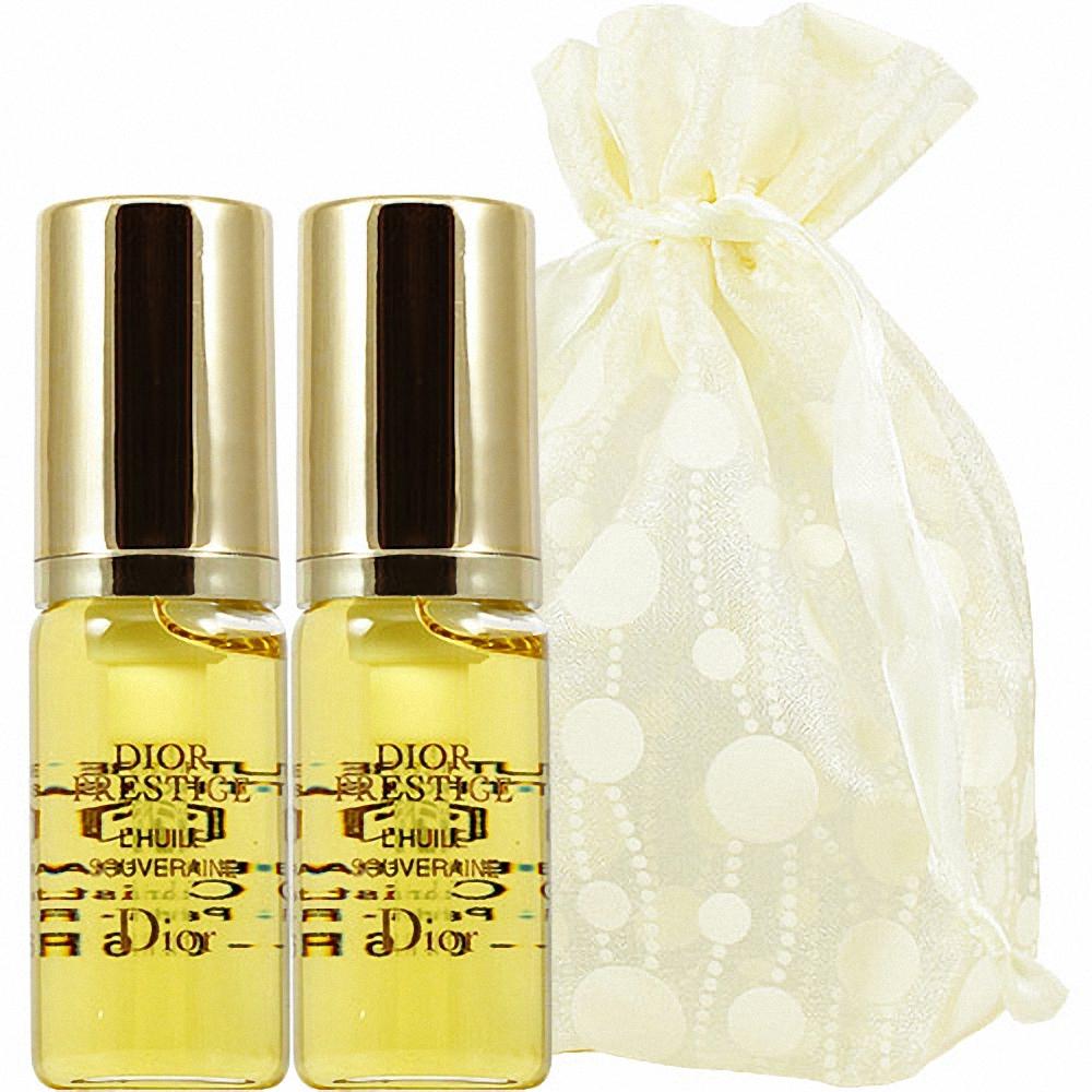 Dior 迪奧 精萃再生皇后玫瑰精露(5ml)2入旅行袋組