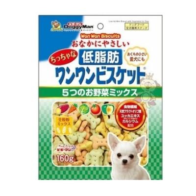 日本DoggyMan《低脂五蔬果消臭餅乾》160g (兩包組)