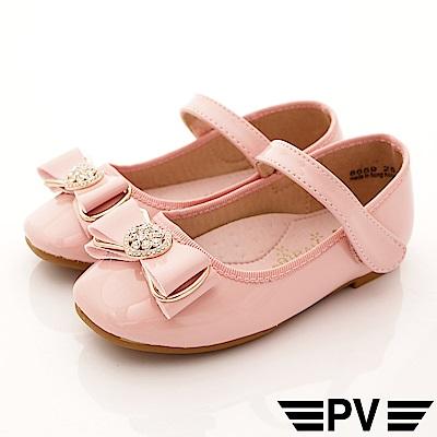PV日系私藏 緞帶晶鑽公主鞋款 8659粉紅(中小童段)
