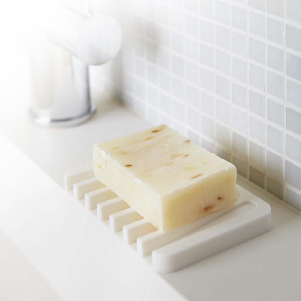 YAMAZAKI Flow斷水流肥皂架-白★浴室收納/衛浴收納/肥皂盤/肥皂