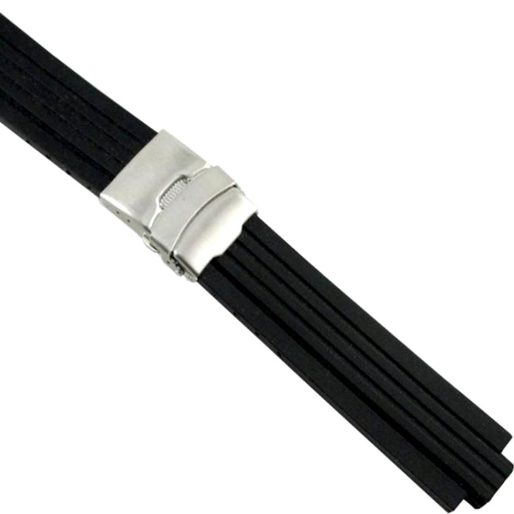 ORIS TT1/TT2運動矽膠代用錶帶-線條輪胎紋