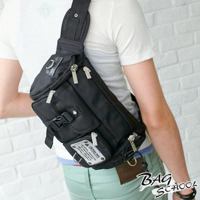 DF【Bag school 】嚴選型男專屬休閒個性款斜背/腰包2用