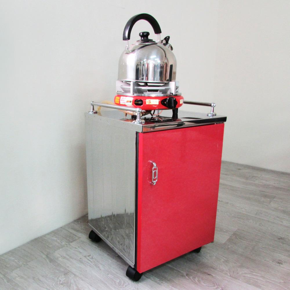 Amos-樂活時尚套房茶車/泡茶收納櫃(W35*D33.5*56CM)