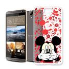 迪士尼 HTC One E9/E9+ 可共用大頭透明手機軟殼(摀嘴米奇)