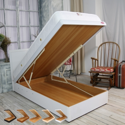 時尚屋 格頓3尺寬版尾掀單人床+安全扣 五色可選-免組