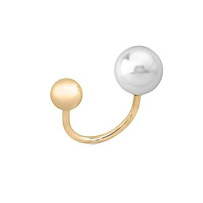 Majorica西班牙珠寶 珍珠戒指金色