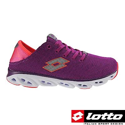 LOTTO 義大利 女 風動後踩跑鞋 (紫紅)
