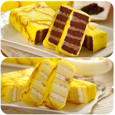 艾葛蛋捲狂人-金磚蛋糕-巧克力脆片x1片-水果優格
