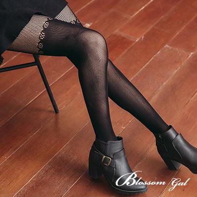 Blossom Gal 日韓風甜美花漾假膝上網襪(共七色)